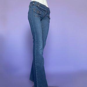 Y2K Low-Waist Belt Flare Jeans
